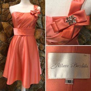Peach Prom Cocktail Dress Size 4